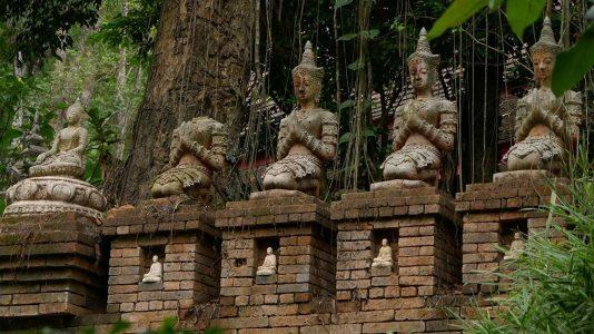 Bodhisattva Statues at Wat Pha Lat in Chiang Mai - Thailand