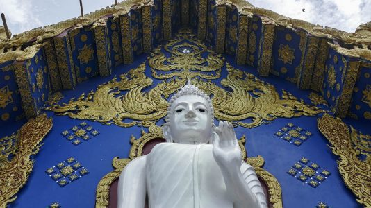 Buddha at the Back of Blue Temple in Chiang Rai - Thailand