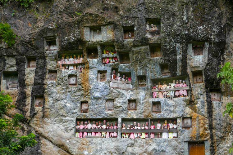 Lemo Burial Site with Dolls in Toraja - Indonesia