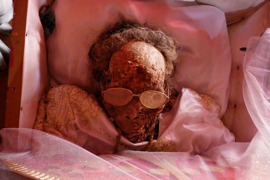 Mummified Woman Awaiting Funeral in Toraja - Indonesia