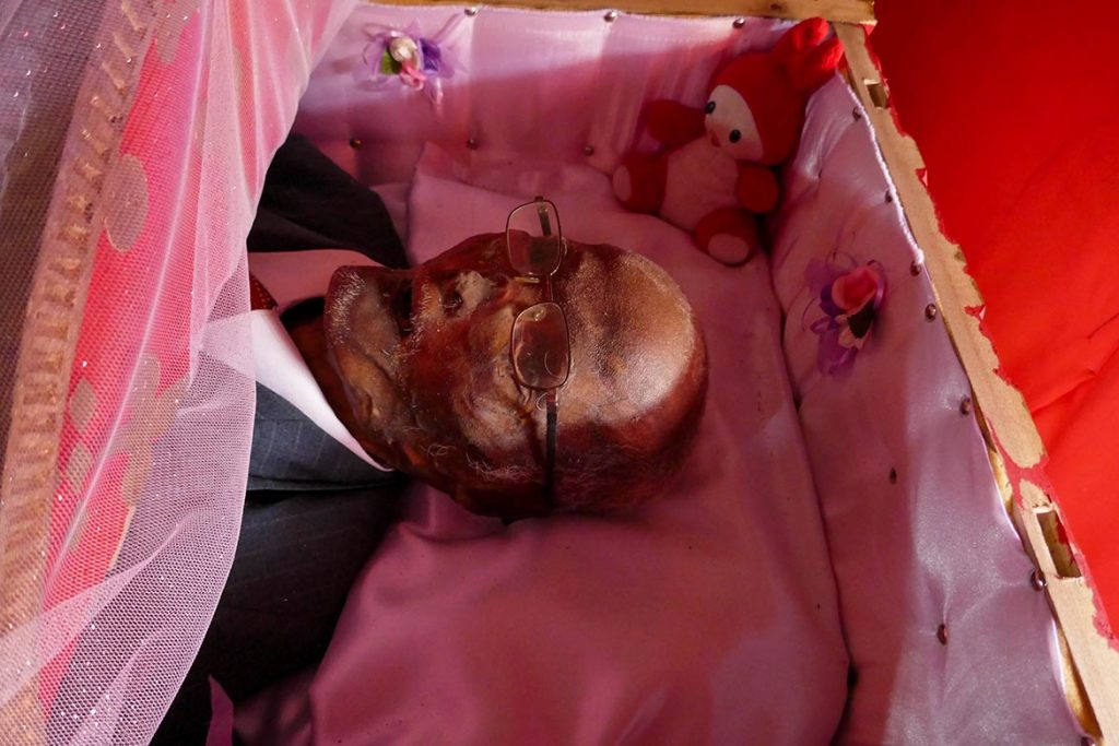 Mummy Waiting for Burial in Toraja Funeral in Indonesia