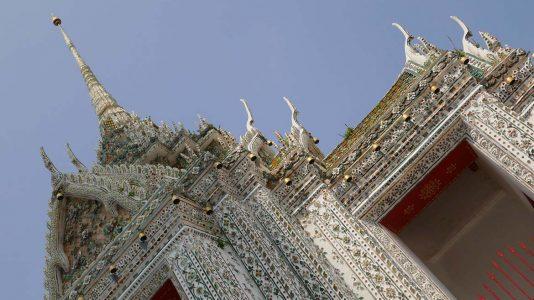 Detailed Temple Roof at Wat Arun in Bangkok - Thailand