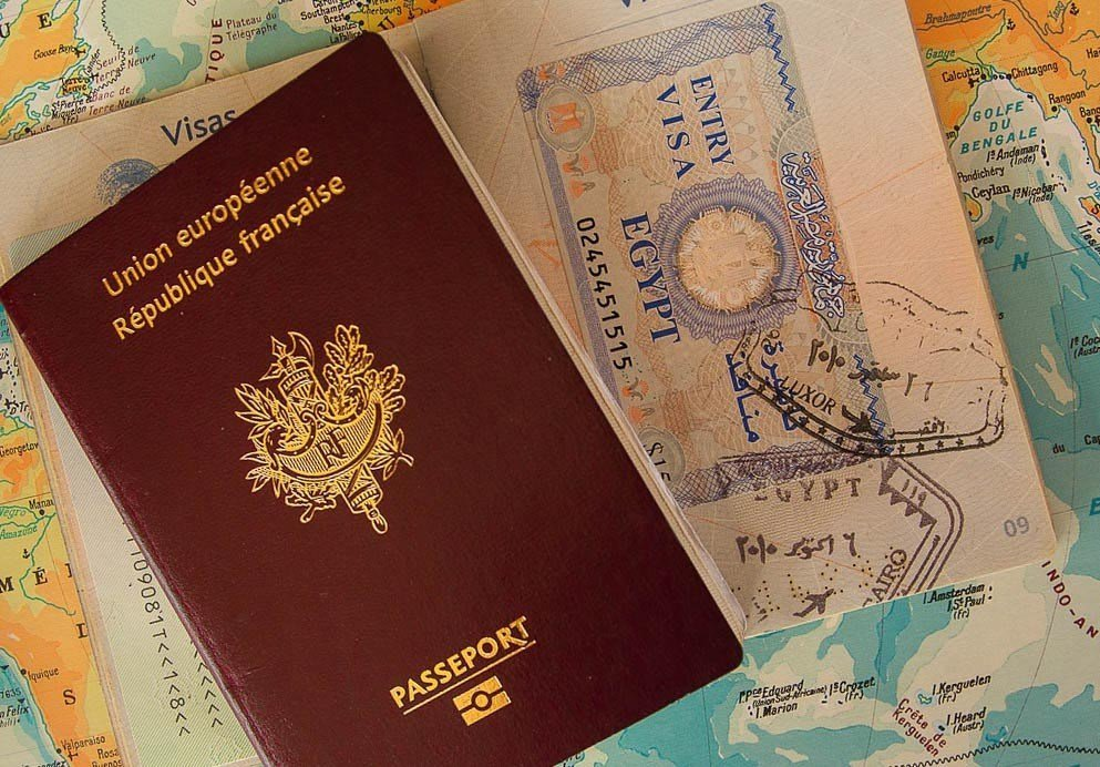 Passport and Map for Travel Planning