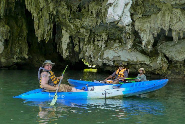 Team Hazard Kayaking at Sea Cave in Krabi - Thailand