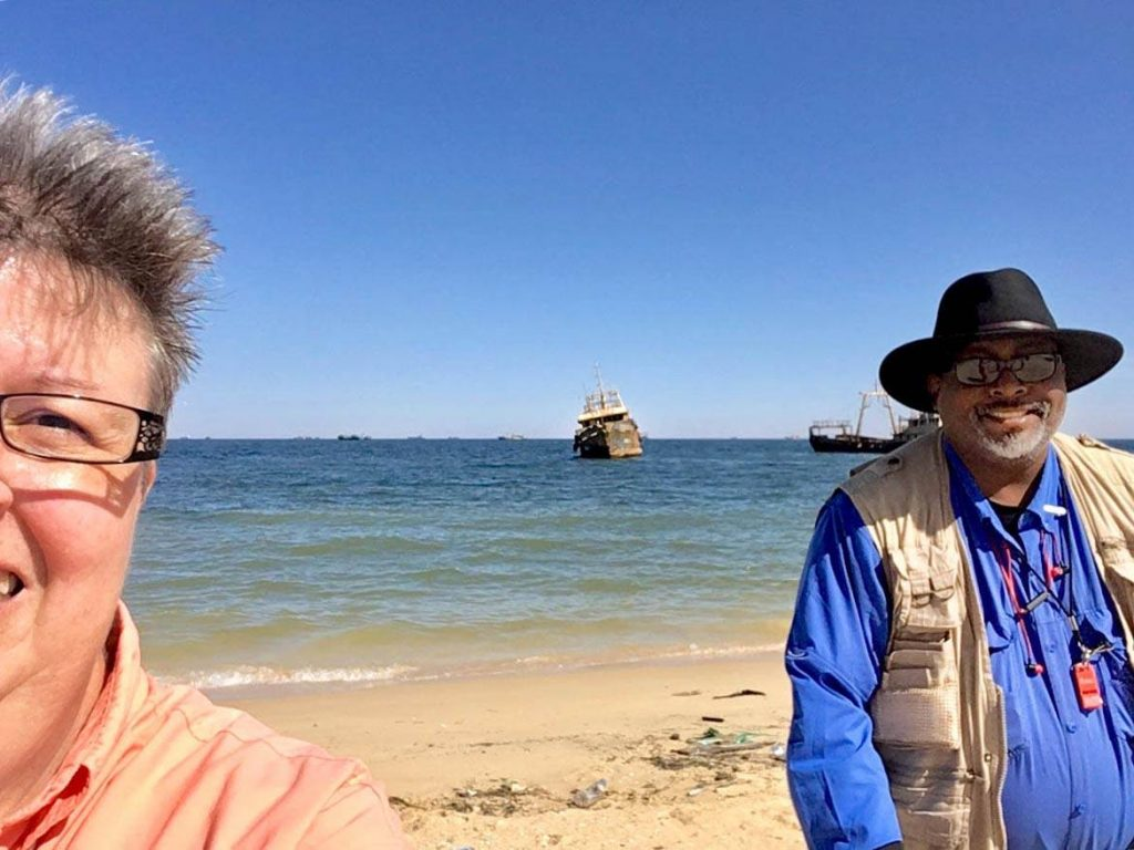 Team Hazard at Noaudhibou Beach looking at Shipwrecks in Mauritania