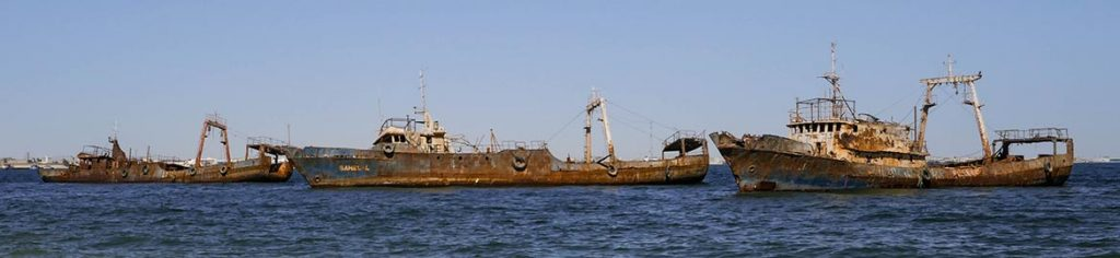 Three Shipwrecks in Naoudhibou - Mauritania
