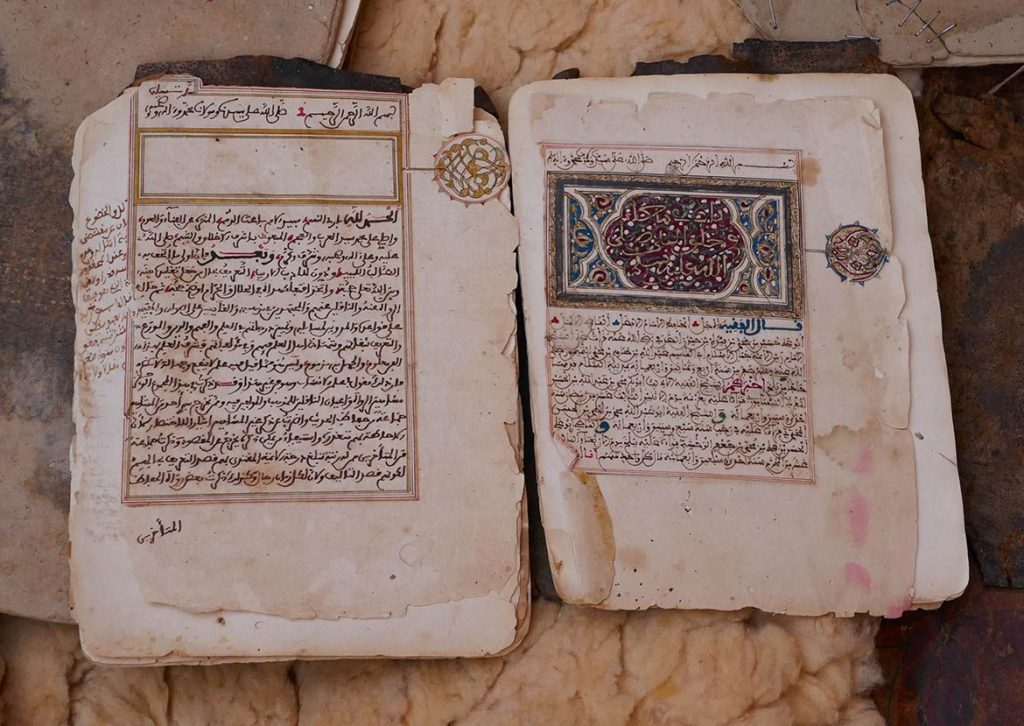 Ancient Religious Book at the Library in Chinguetti - Mauritania