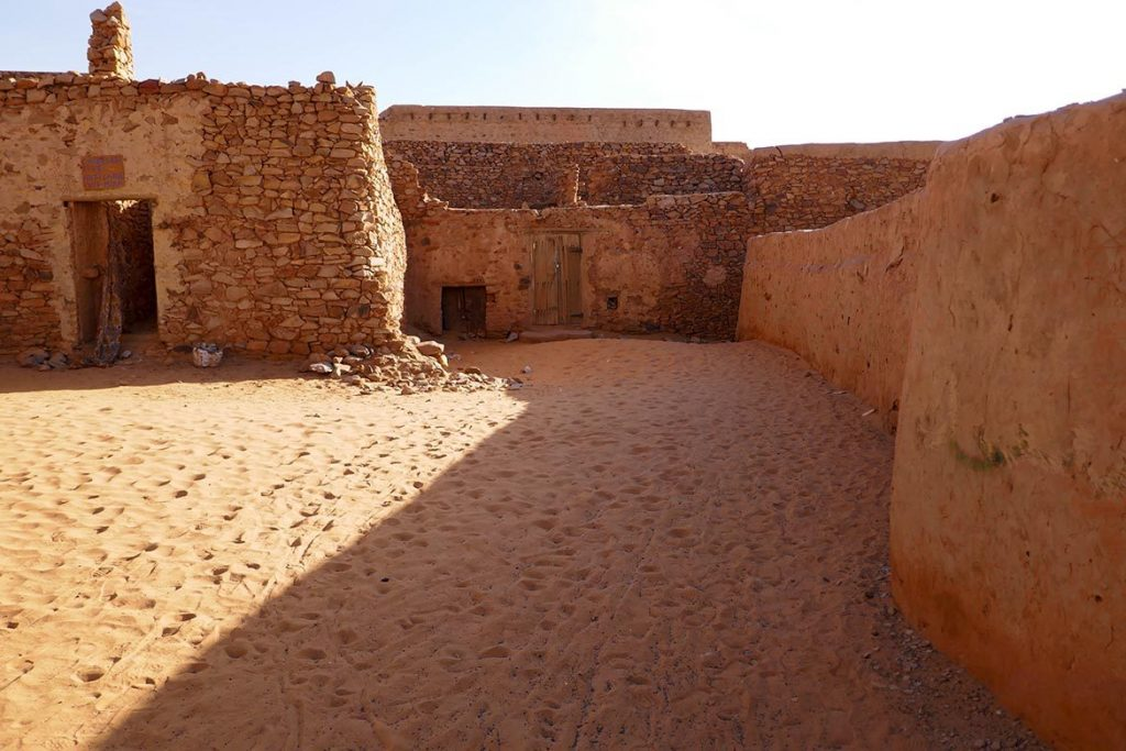 Courtyard in the Ancient Library in Chinguetti - Mauritania