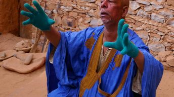 Curator Tells a Story at the Ancient Library in Chinguetti - Mauritania