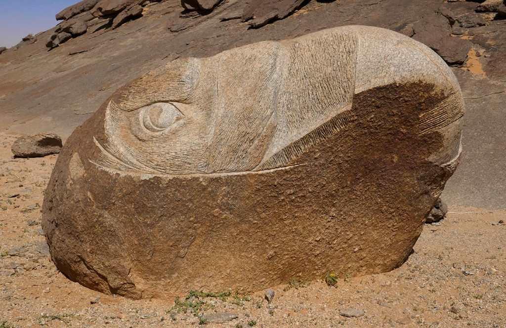 Eagle Carved in Rock at Aisha in the Adrar - Mauritania
