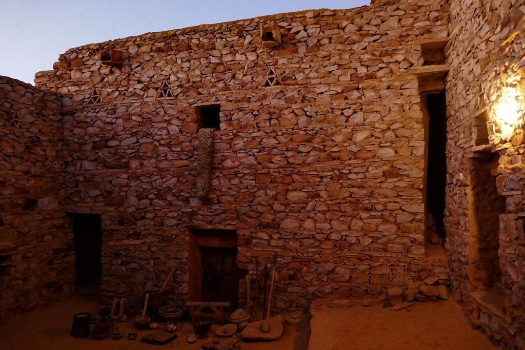 Old Library Courtyard as Sun Disappeared in Chinguetti - Mauritania