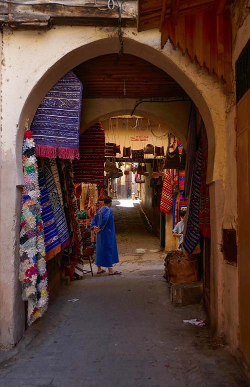 Adventure travel over 50 Travel Solo if you want - Street in Fes Medina