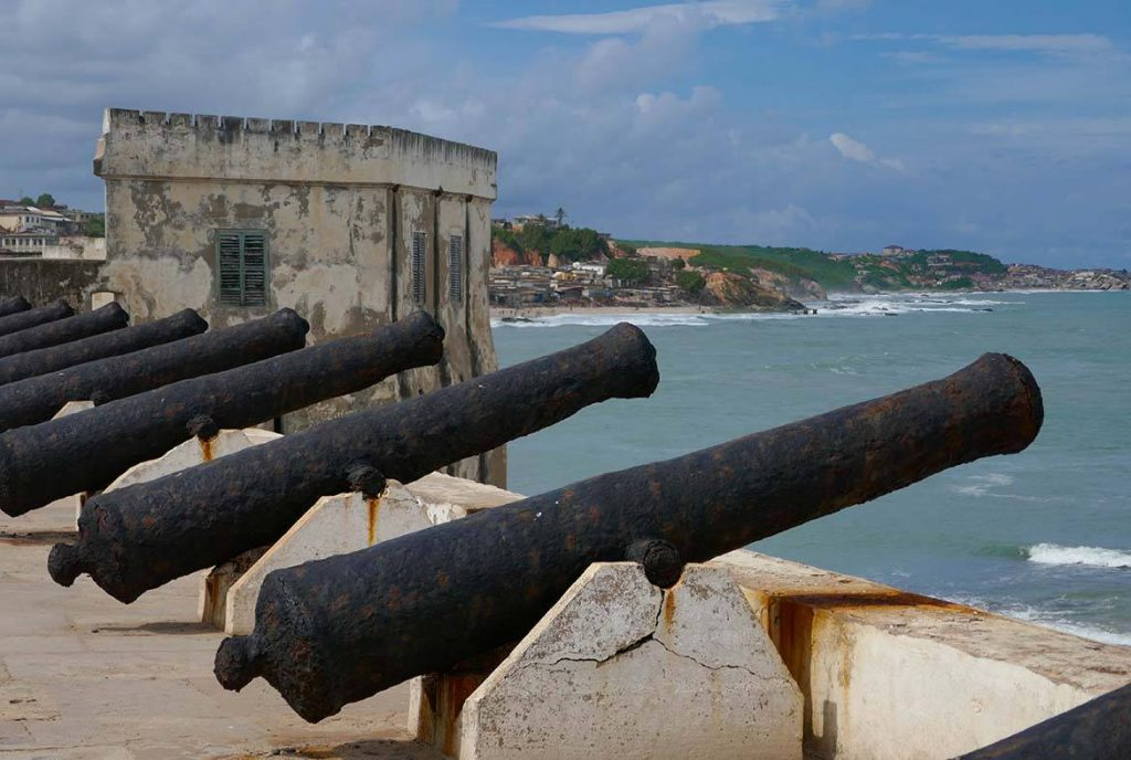Cannonade at Cape Coast Castle Overlooking Ocean
