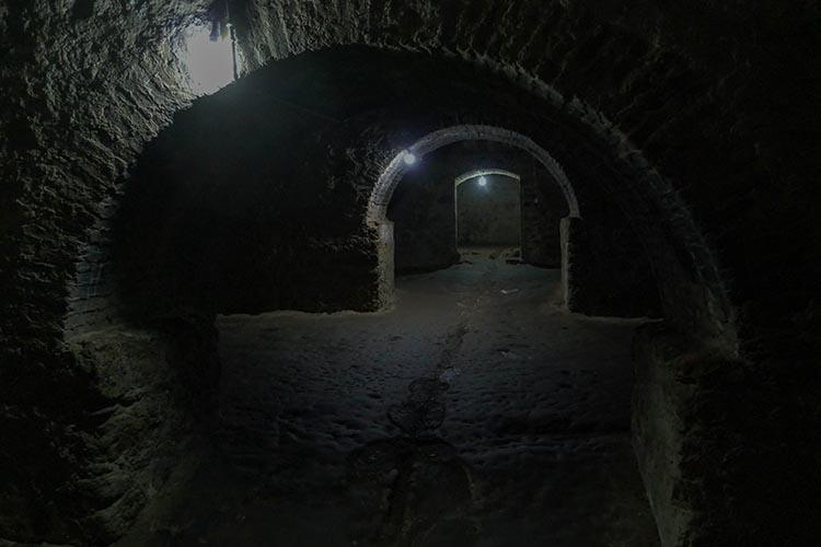 Deep in the dark slave dungeon