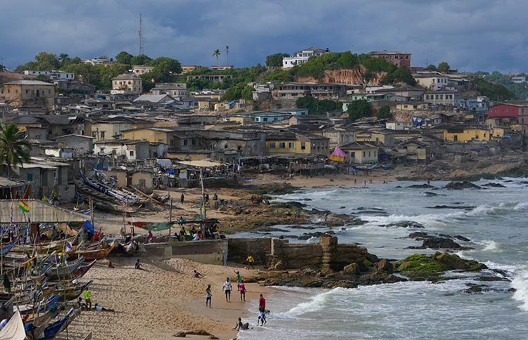 Cape Coast Ghana Pictures - View of Cape Coast from the Castle
