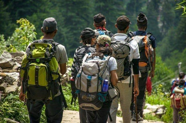 Backpackers on Hike