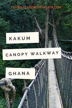 Pin for Kakum National Park's Canopy Walkway - image of rope bridge over rainforest