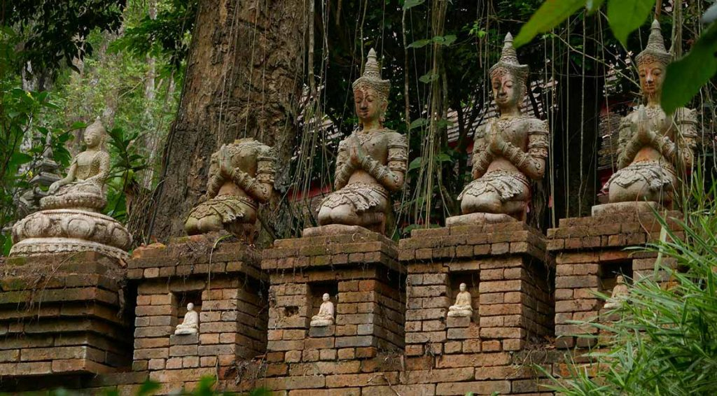 Bodhisattvas in the Jungle at Wat Pha Lat - Chiang Rai