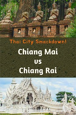 Chiang Mai vs Chiang Rai - Bodhisattvas at Wat Pha Lat and the White Temple