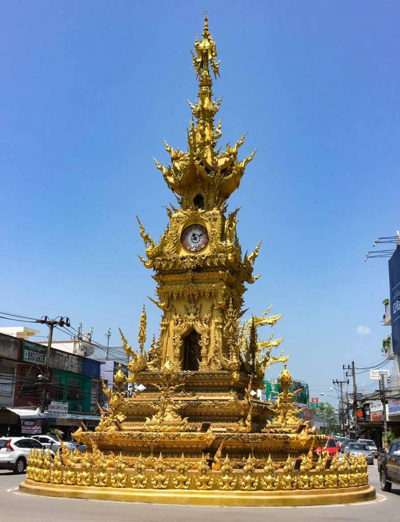Chiang Rai Clock Tower - ornate and gold