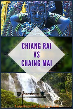 Chiang Rai vs Chiang Mai - Blue Temple Deity and Waterfall