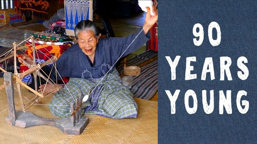 90-year-old Woman Spinning Thread in Indonesia