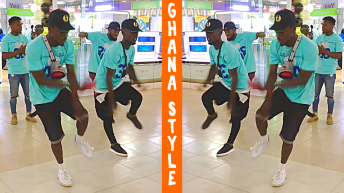 Modern Ghana Dancers in Mall in Accra