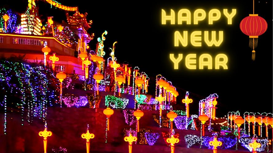 Lunar New Year at Kek Lok Si Temple in Penang Malaysia