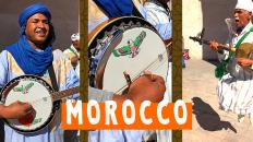 Moroccan Musicians Performing in Essaouira Medina