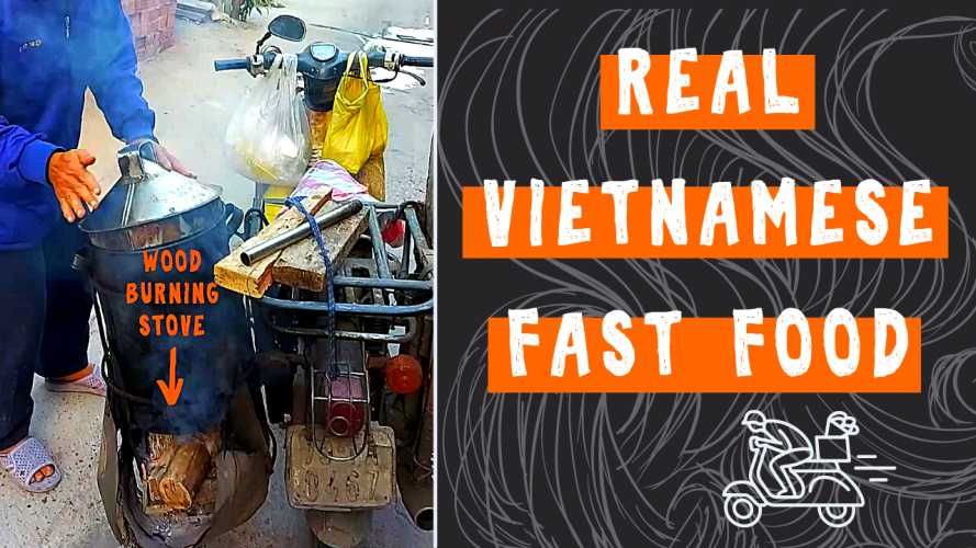 Vietnamese Food Sold from the Back of a Motorbike