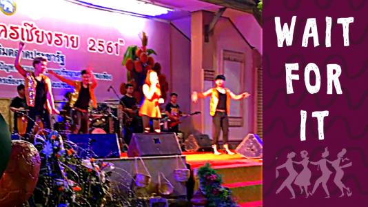 Thai Dancers in Audience in Chiang Rai