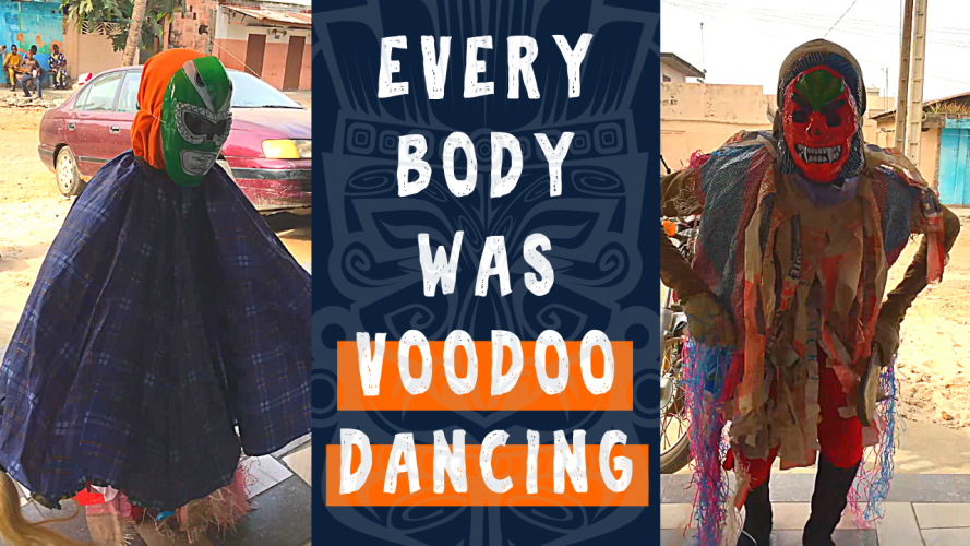 Kids Dancing in Vodun Tradition in Cotonou Benin