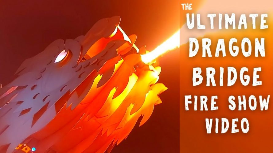 Ultimate Dragon Bridge Fire Show in Da Nang, Vietnam - Dragon Dance Party