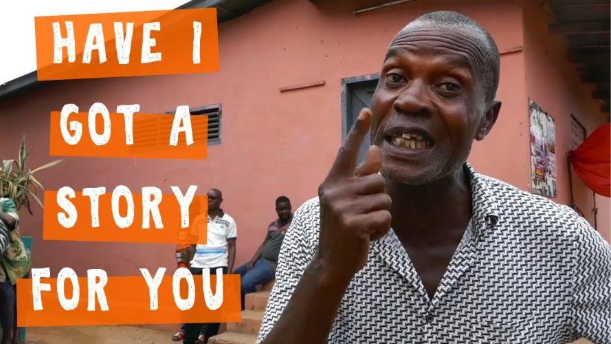 Storyteller at Mankessim Posuban near Cape Coast, Ghana