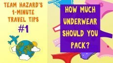 How Much Underwear Should You Pack for Your Trip? - 1-Minute Travel Tips #1