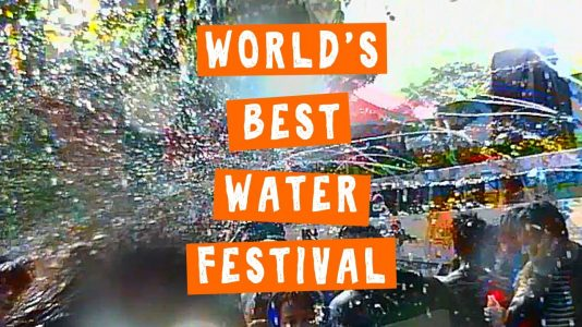 Thingyan - Wild Water Festival and Buddhist New Year in Mandalay Myanmar