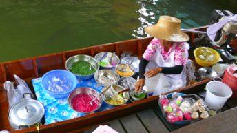 Taling Chan Floating Market Near Bangkok, Thailand