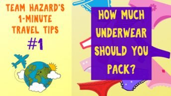 1-Minute Travel Tip - How Much Underwear Should You Pack